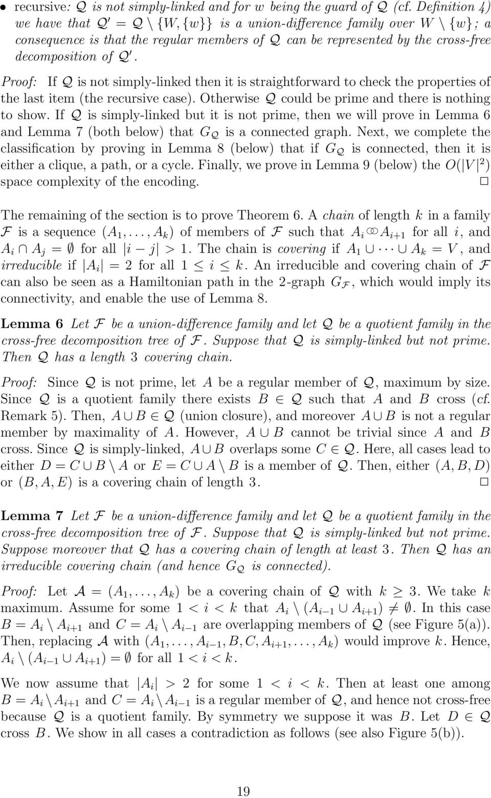 Proof: If Q is not simply-linked then it is straightforward to check the properties of the last item (the recursive case). Otherwise Q could be prime and there is nothing to show.