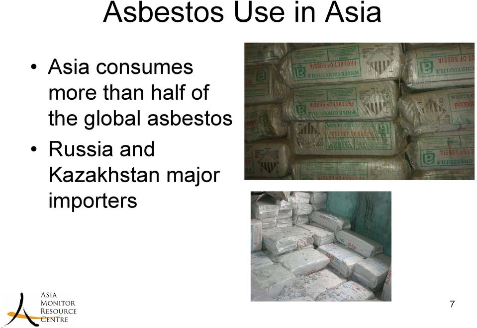 the global asbestos Russia