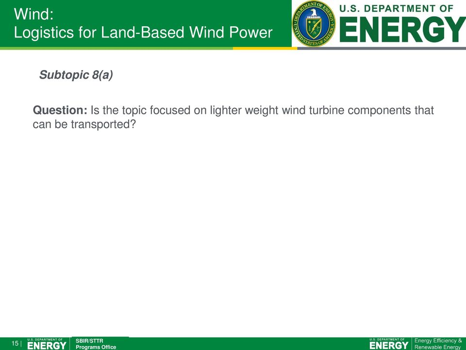 topic focused on lighter weight wind