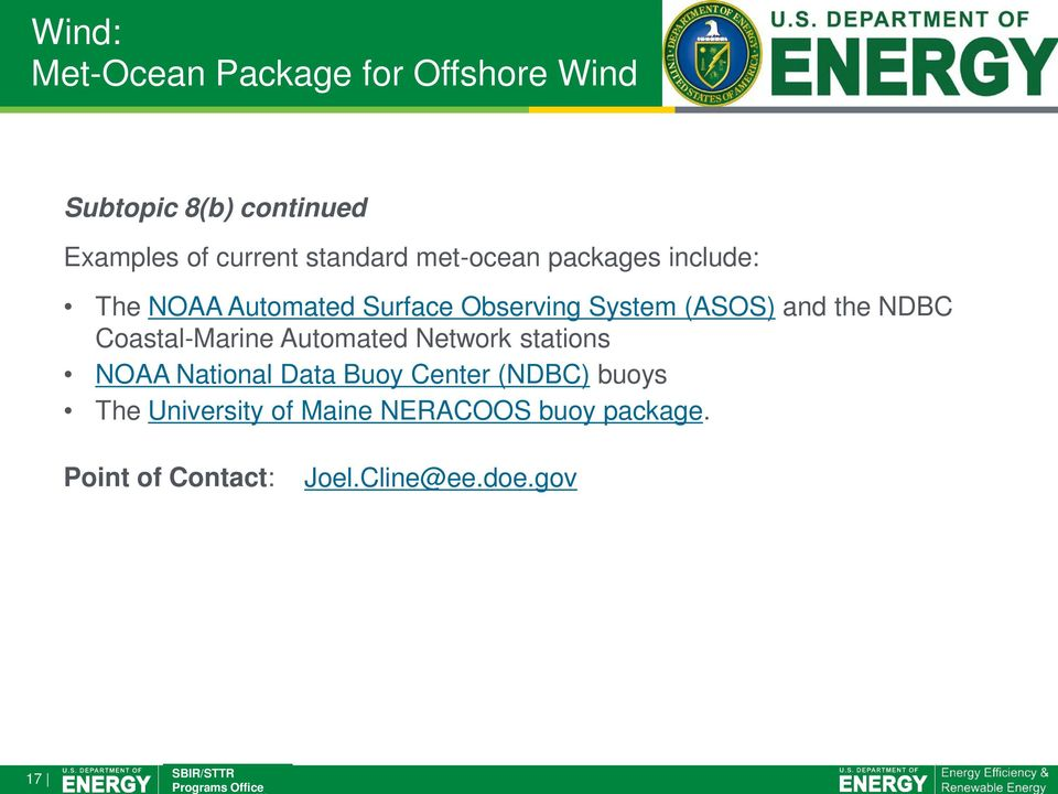 and the NDBC Coastal-Marine Automated Network stations NOAA National Data Buoy Center
