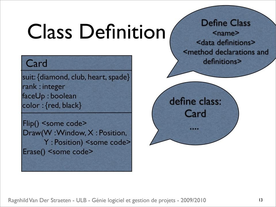 : Position, Y : Position) <some code> Erase() <some code> Define Class