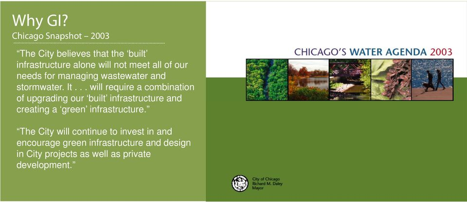 our Glade needs for managing wastewater and stormwater. It.