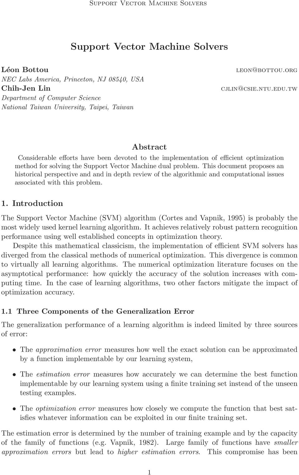 This document proposes an historical perspective and and in depth review of the algorithmic and computational issues associated with this problem. 1.