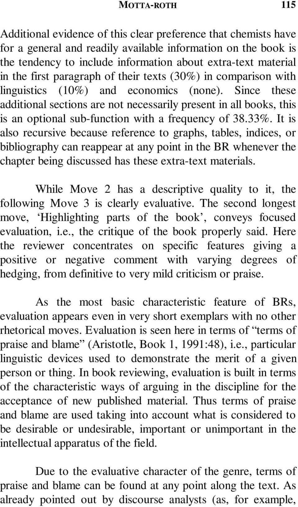 Since these additional sections are not necessarily present in all books, this is an optional sub-function with a frequency of 38.33%.