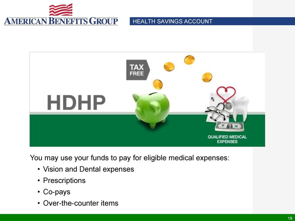 expenses: Vision and Dental expenses
