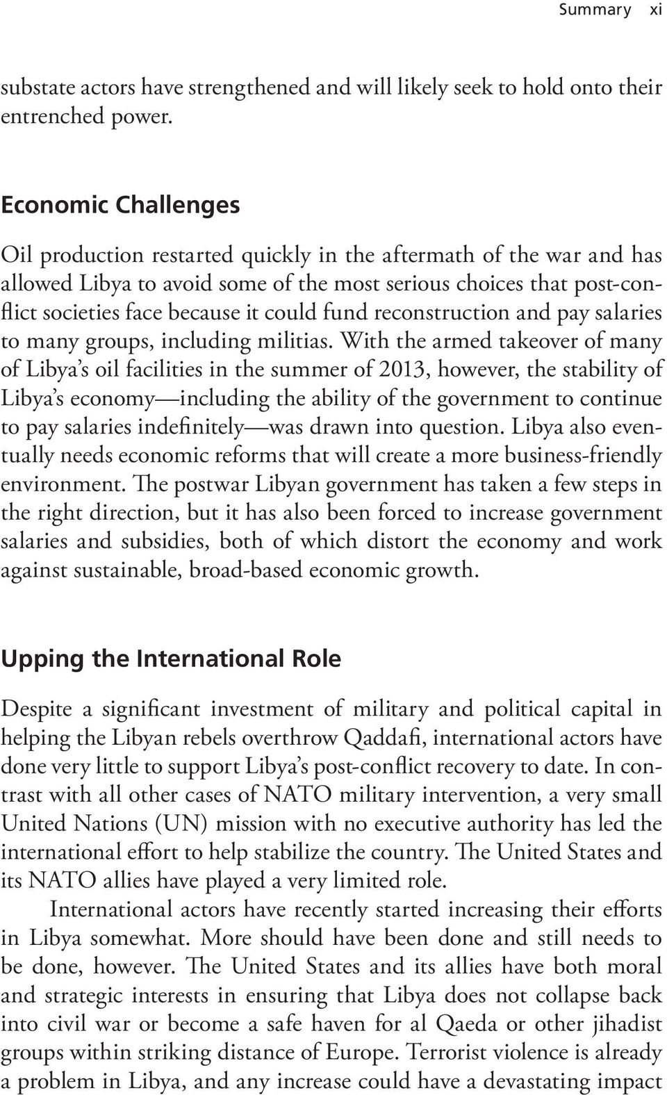 fund reconstruction and pay salaries to many groups, including militias.