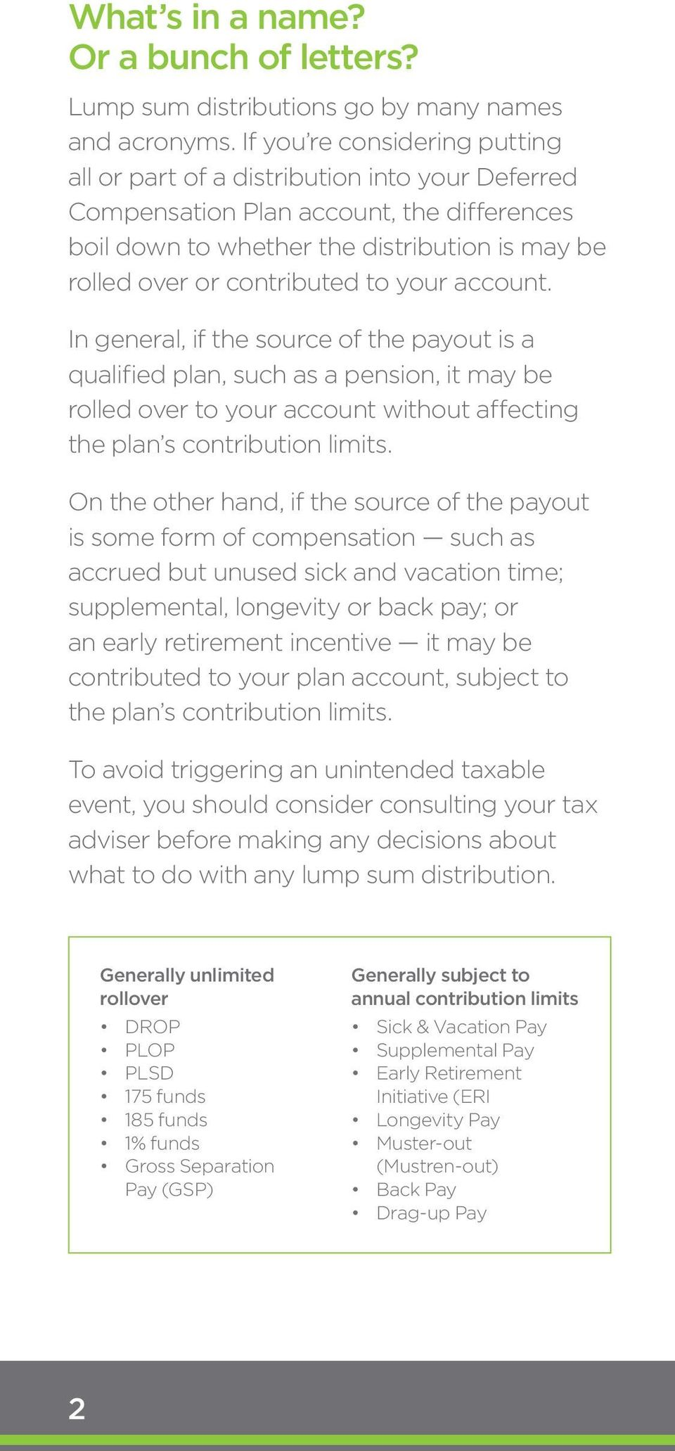 nslsc how to pay a lump sum