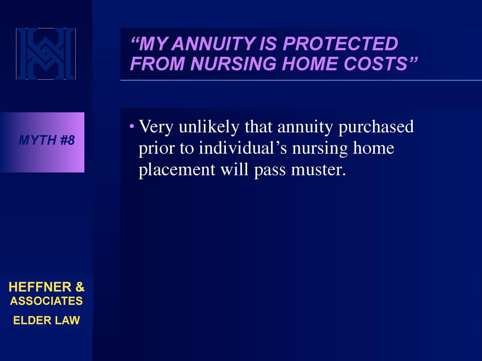 annuity purchased prior to individual