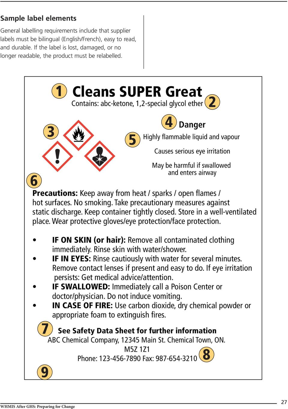 3 1 Cleans SUPER Great Contains: abc-ketone, 1,2-special glycol ether 5 4 Danger 2 Highly flammable liquid and vapour Causes serious eye irritation 6 May be harmful if swallowed and enters airway