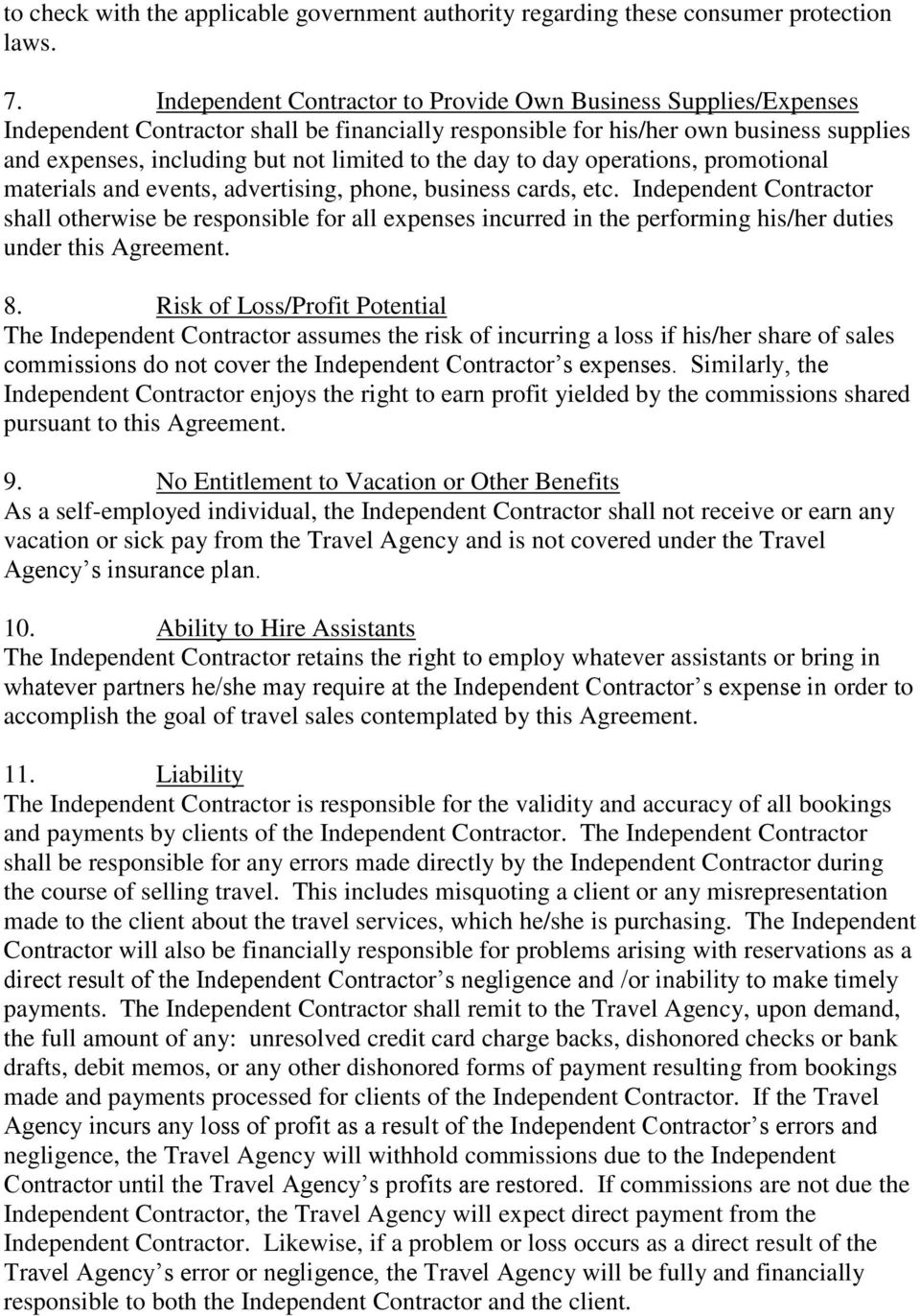 Independent Contractor Agreement Pdf