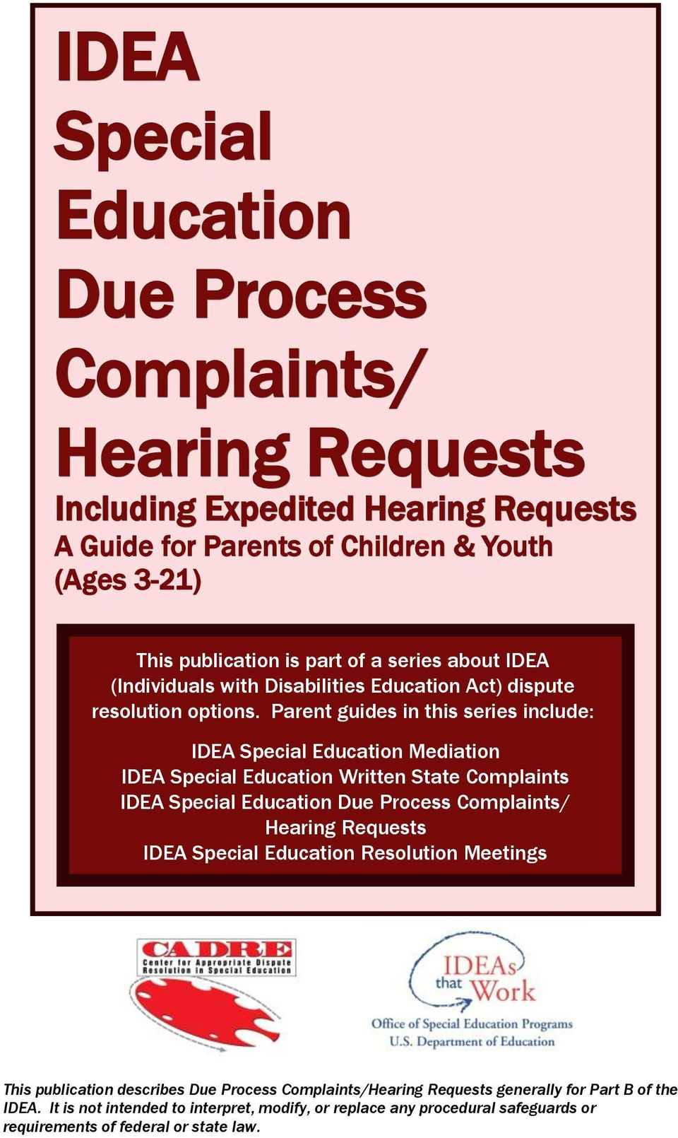 Procedural Safeguards In Special Education Montana Office Of >> Idea Special Education Due Process Complaints Hearing Requests