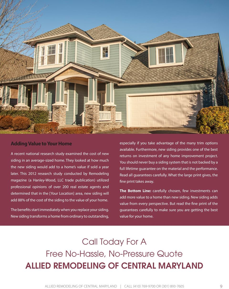 HOMEOWNER S GUIDE TO SIDING - PDF