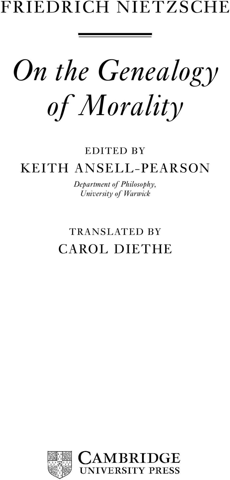 ANSELL-PEARSON Department of