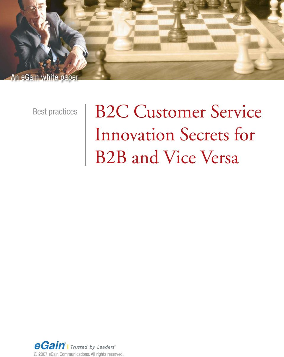 Secrets for B2B and Vice Versa 2007