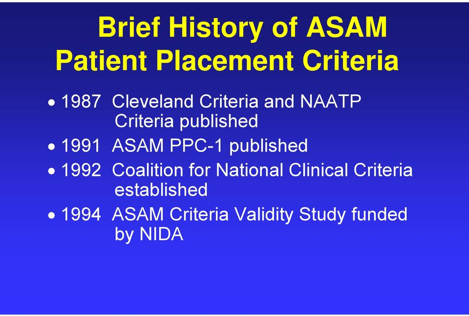PPC-1 published 1992 Coalition for National Clinical