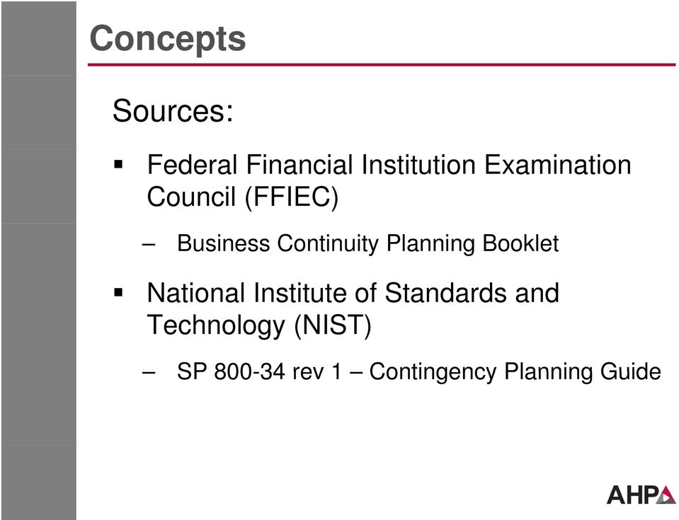 Planning Booklet National Institute of Standards and