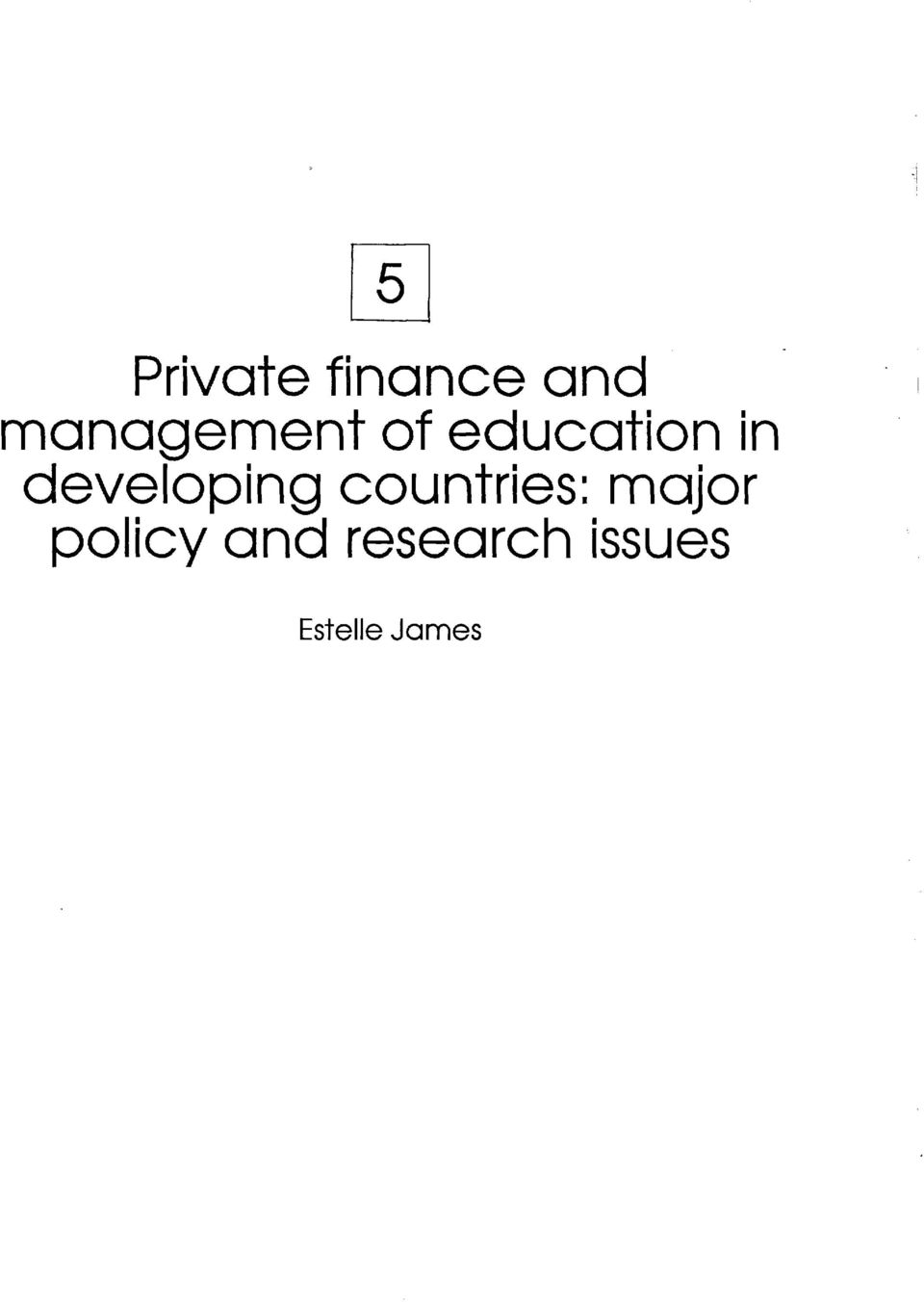 developing countries: major