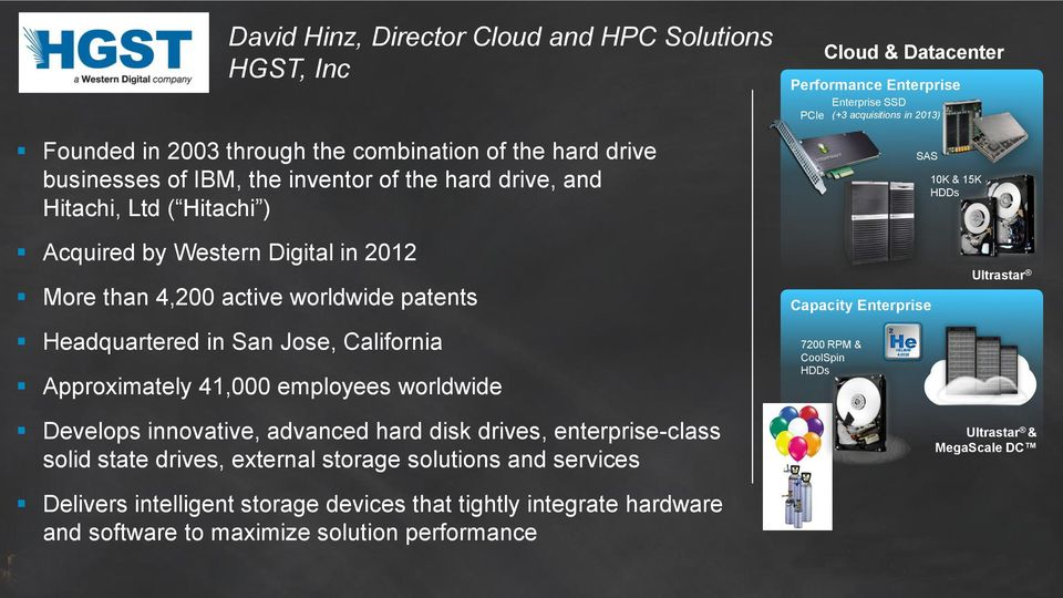 Headquartered in San Jose, California Approximately 41,000 employees worldwide Develops innovative, advanced hard disk drives, enterprise-class solid state drives, external storage solutions