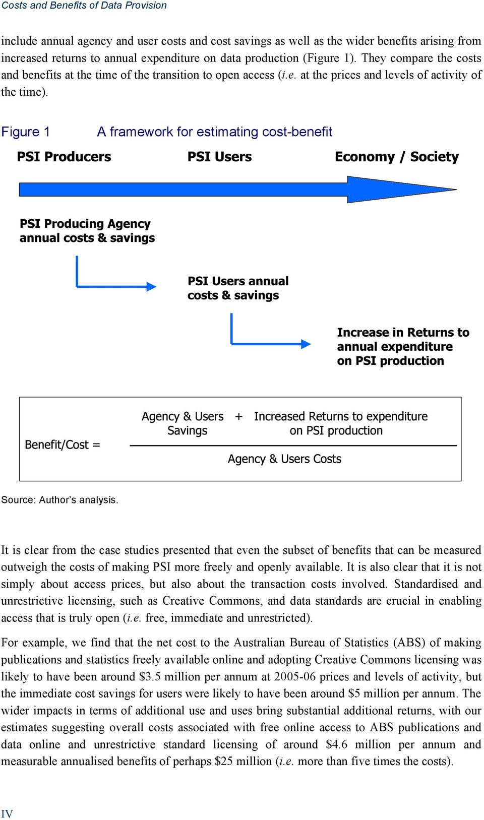Figure 1 A framework for estimating cost-benefit Source: Author s analysis.