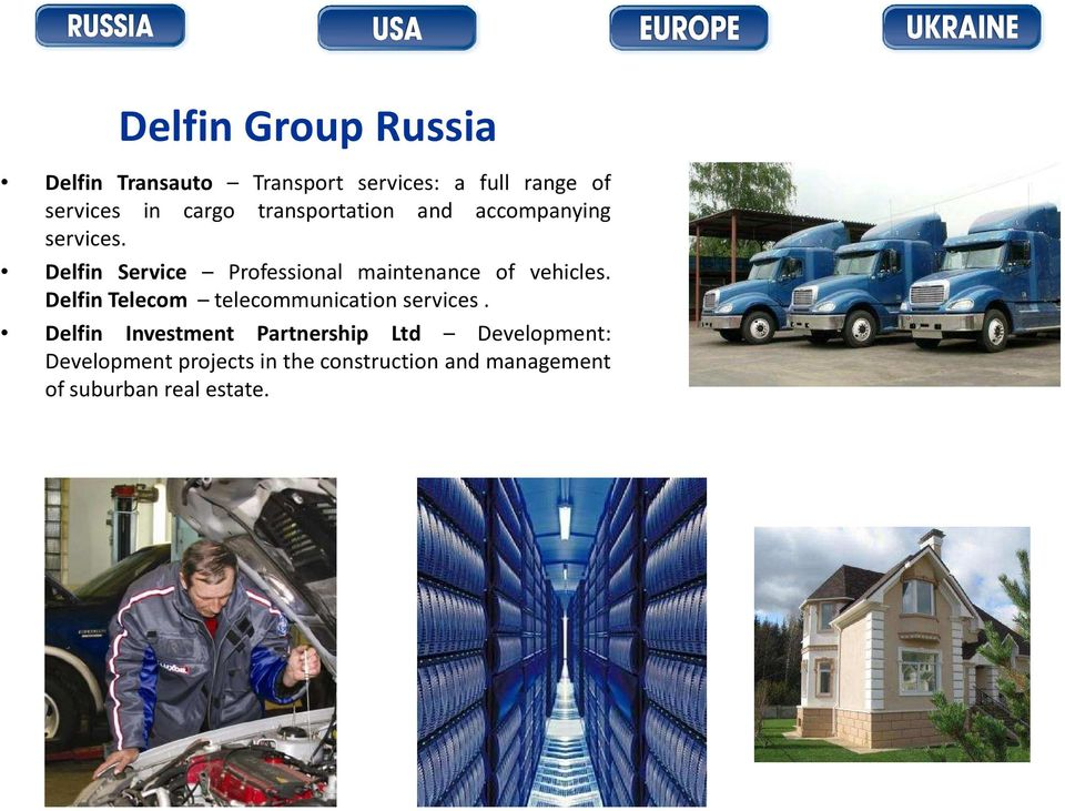 Delfin Service Professional maintenance of vehicles.
