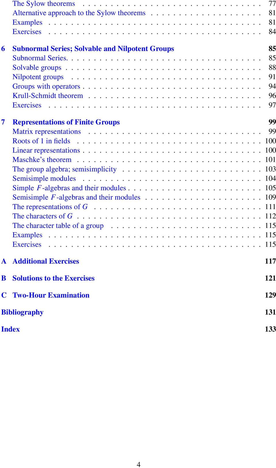 ................................. 91 Groups with operators................................ 94 Krull-Schmidt theorem............................... 96 Exercises.
