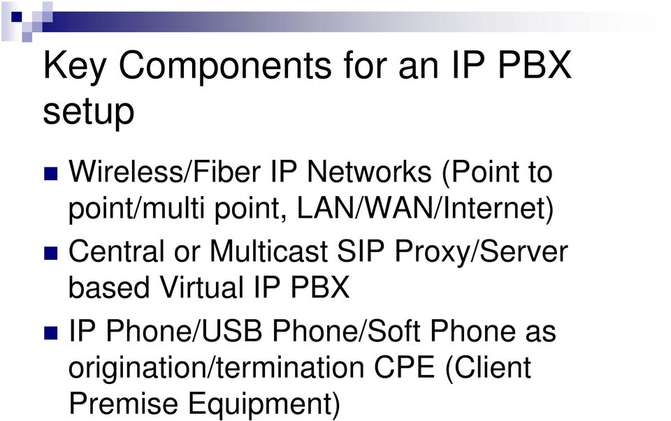 Multicast SIP Proxy/Server based Virtual IP PBX IP Phone/USB