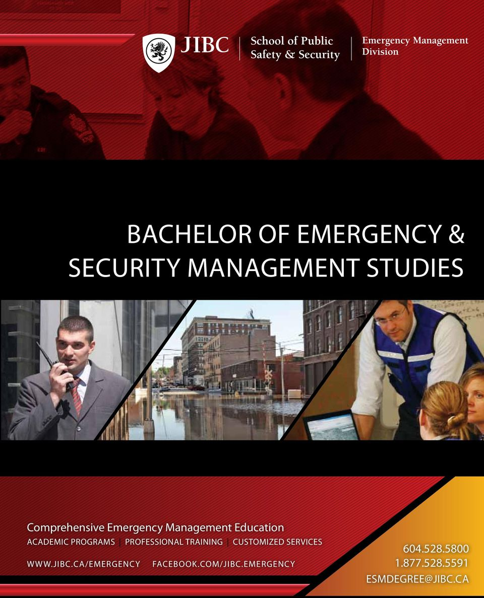 Comprehensive Emergency Management Education academic programs professional training customized