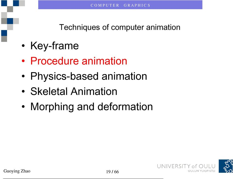 Physics-based animation Skeletal