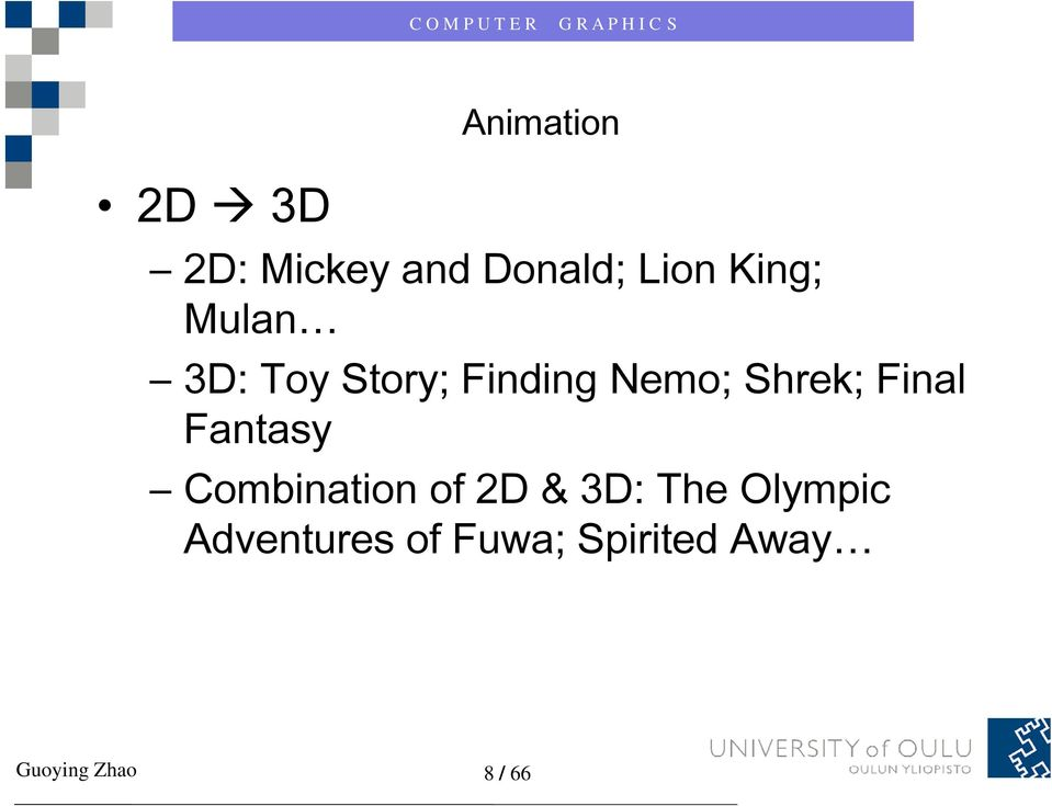 Fantasy Combination o of 2D &3D: The Oy Olympic