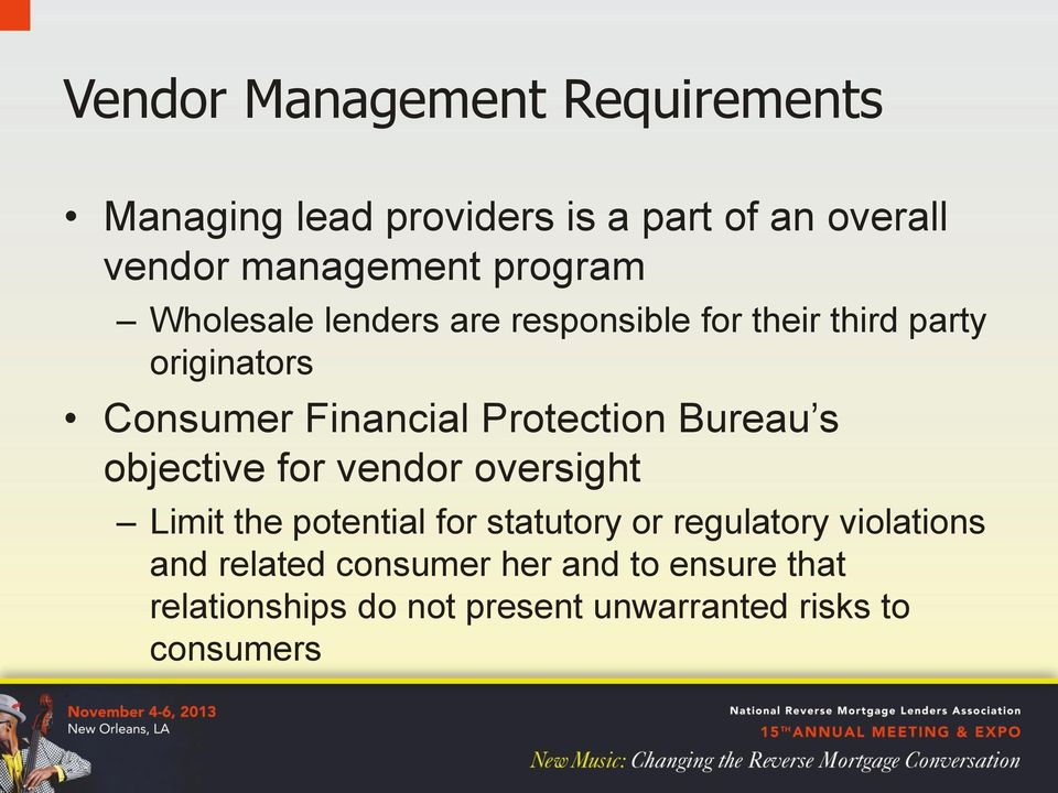 Protection Bureau s objective for vendor oversight.
