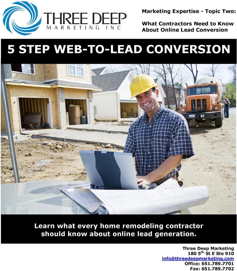 contractor should know about online lead generation.