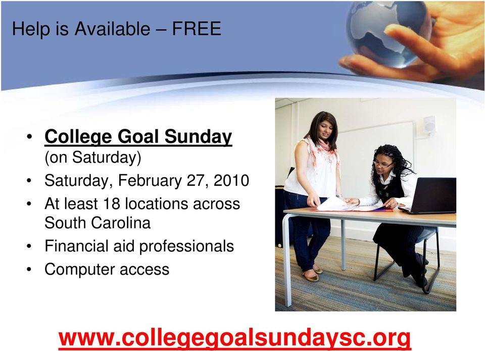 locations across South Carolina Financial aid