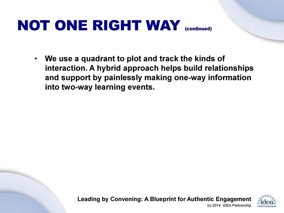 A hybrid approach helps build relationships and