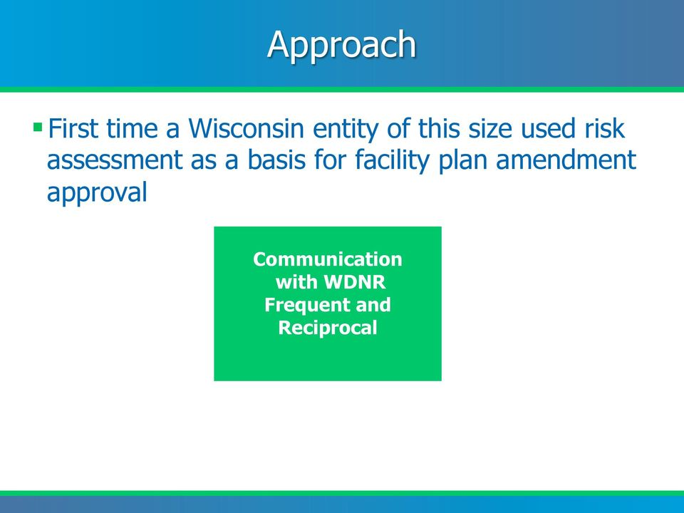 for facility plan amendment approval