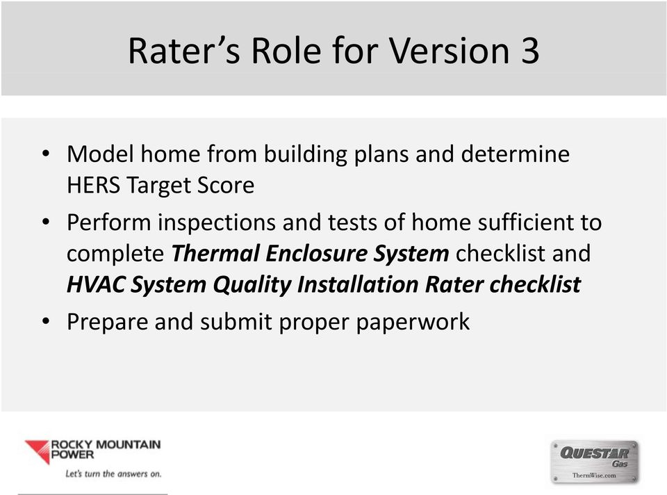 sufficient i to complete Thermal Enclosure System checklist and
