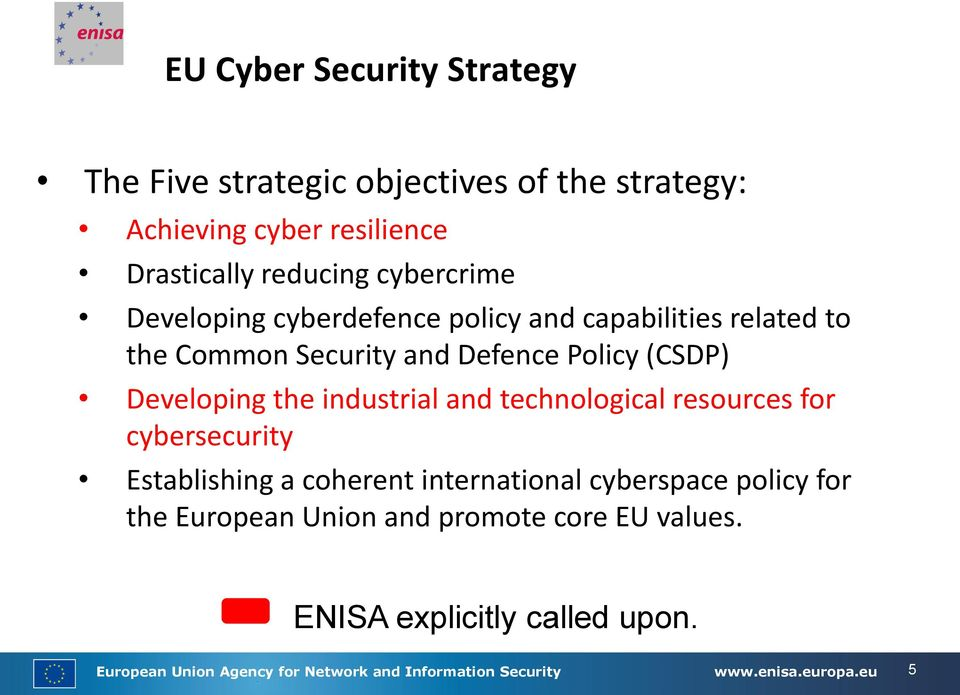 industrial and technological resources for cybersecurity Establishing a coherent international cyberspace policy for the European