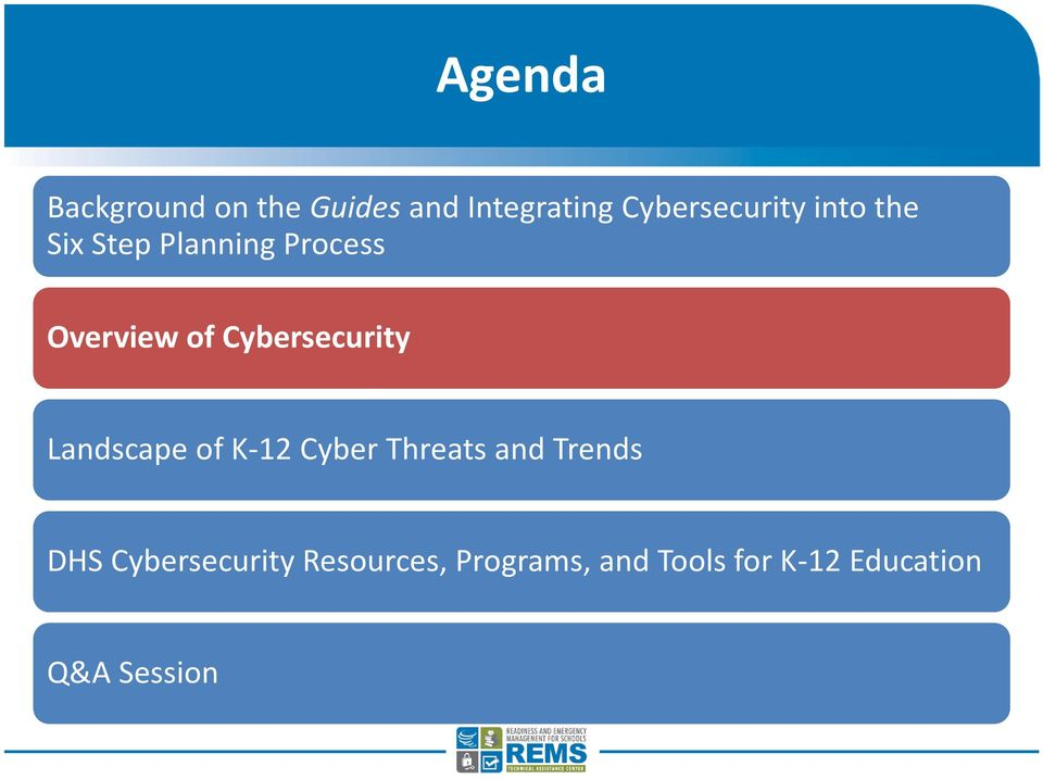 Landscape of K-12 Cyber Threats and Trends DHS Cybersecurity