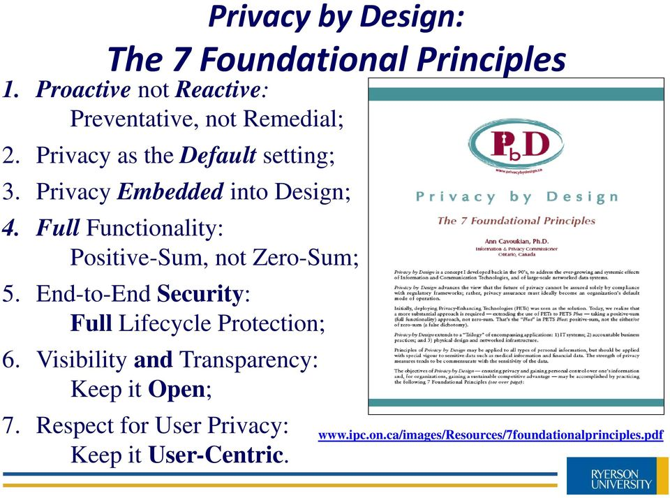 Full Functionality: Positive-Sum, not Zero-Sum; 5. End-to-End Security: Full Lifecycle Protection; 6.