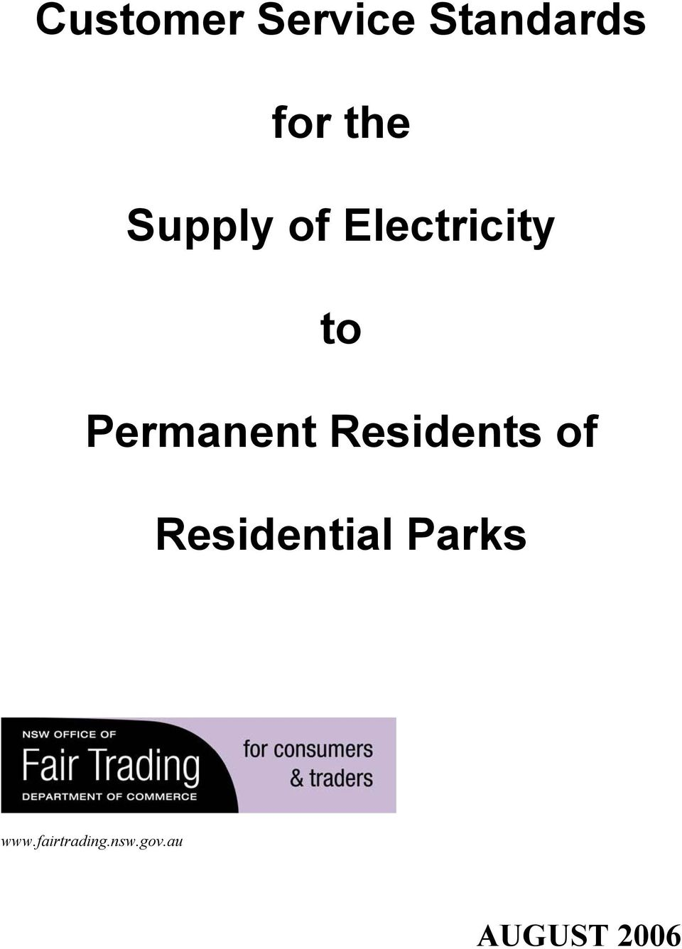 Residents of Residential Parks www.