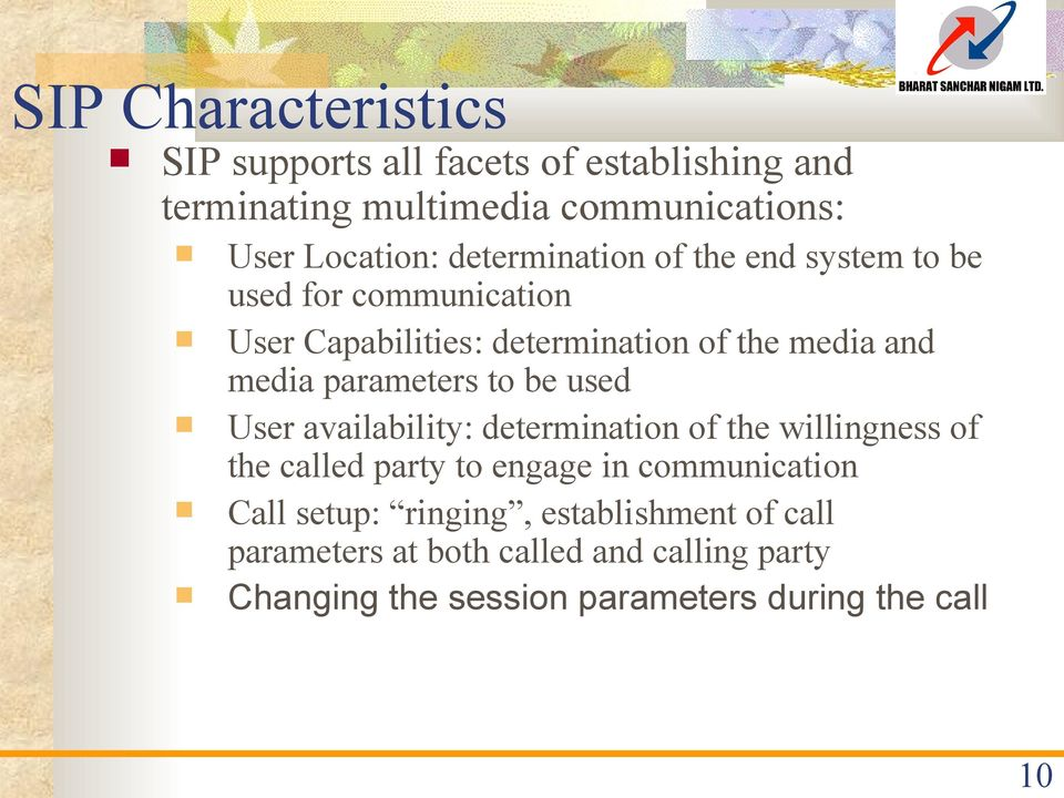 parameters to be used User availability: determination of the willingness of the called party to engage in communication