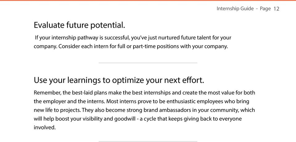 Remember, the best-laid plans make the best internships and create the most value for both the employer and the interns.