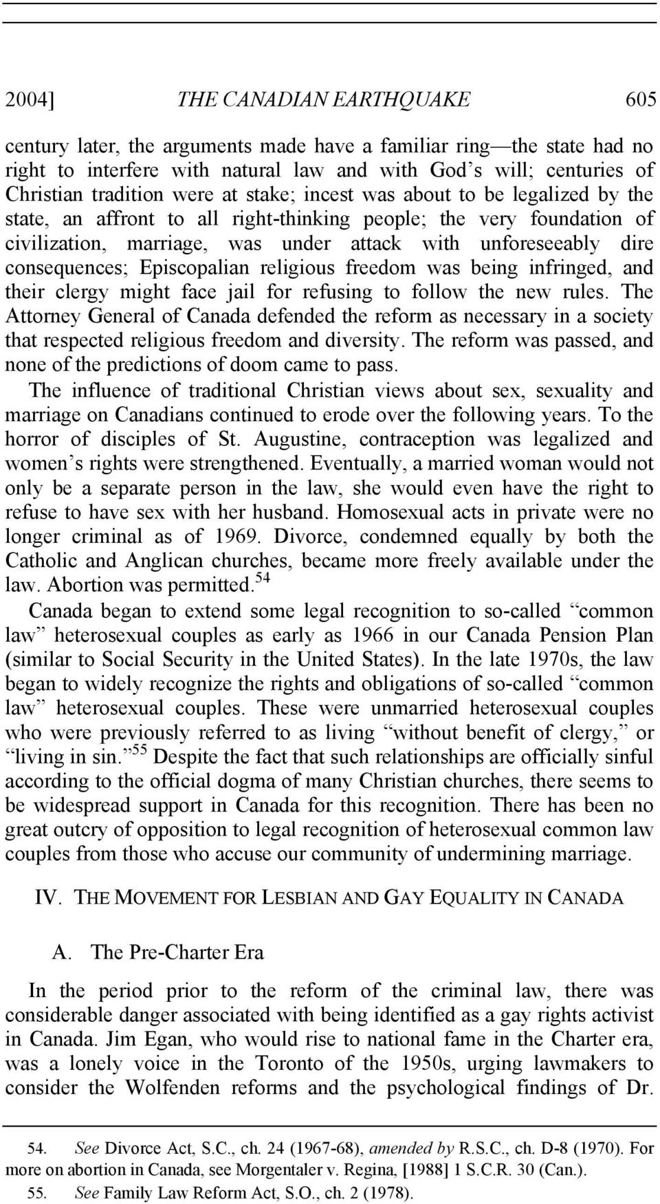 consequences; Episcopalian religious freedom was being infringed, and their clergy might face jail for refusing to follow the new rules.
