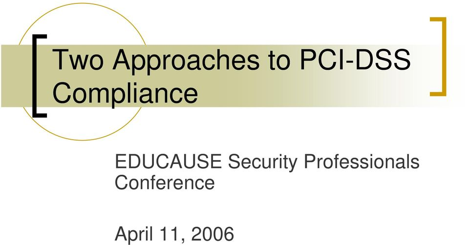 EDUCAUSE Security