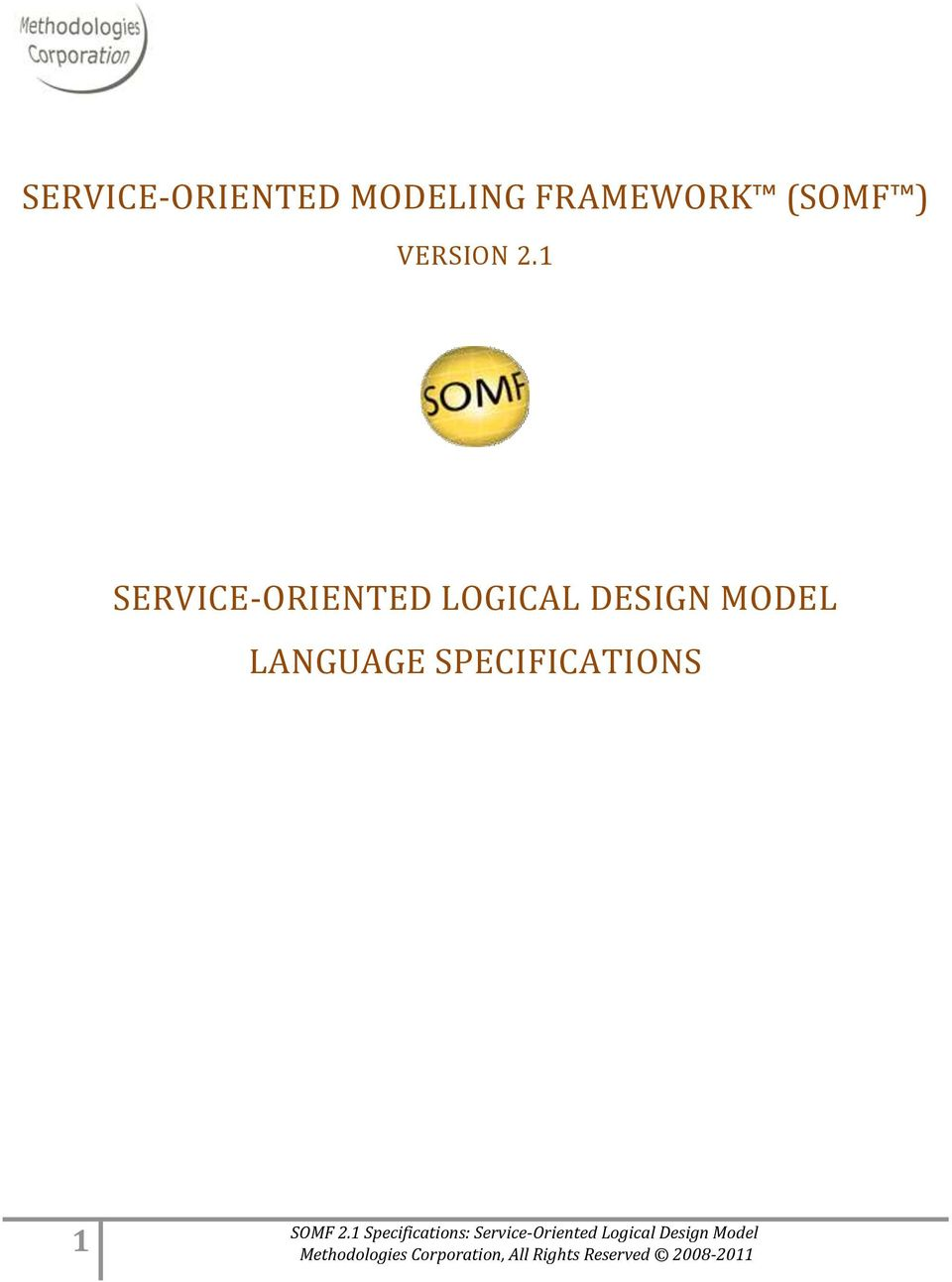 1 SERVICE-ORIENTED LOGICAL