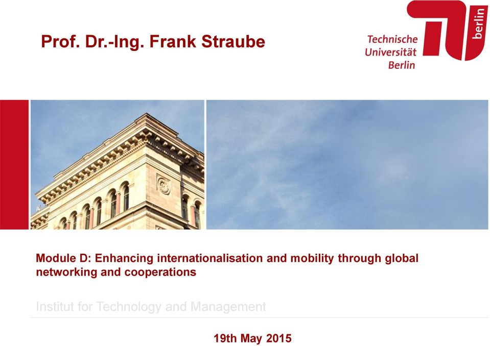 internationalisation and mobility through