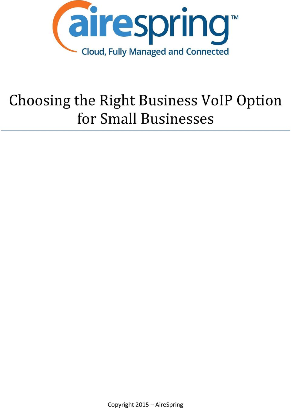for Small Businesses