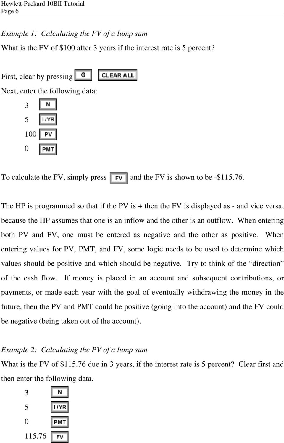 The HP is programmed so that if the PV is + then the FV is displayed as - and vice versa, because the HP assumes that one is an inflow and the other is an outflow.