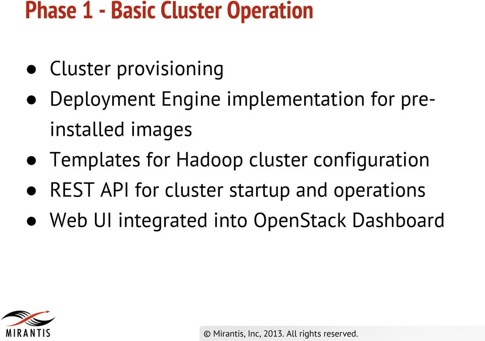 Templates for Hadoop cluster configuration REST API for