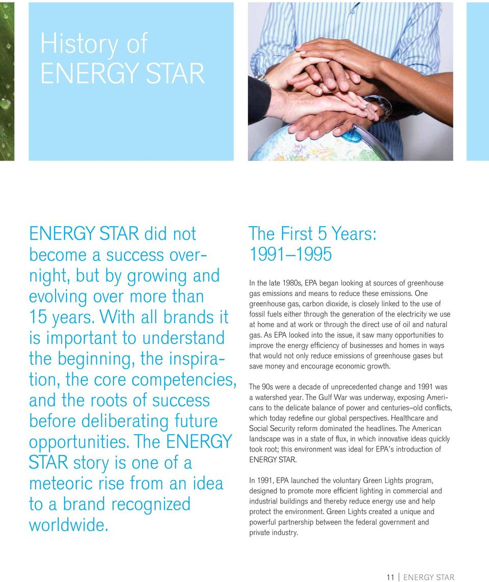 The ENERGY STAR story is one of a meteoric rise from an idea to a brand recognized worldwide.
