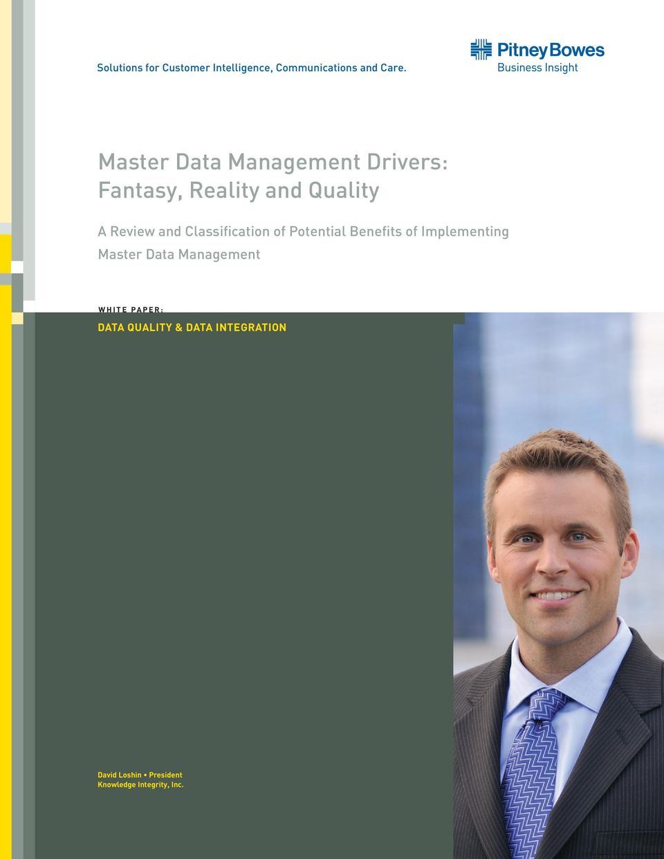 Classification of Potential Benefits of Implementing Master Data Management W